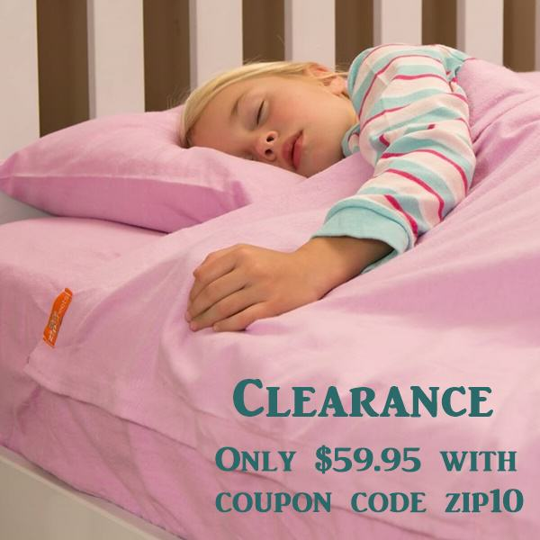 Full Size Lilac Flannel Kids Zip Sheets