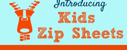 Infographic on Kids Zip Sheets