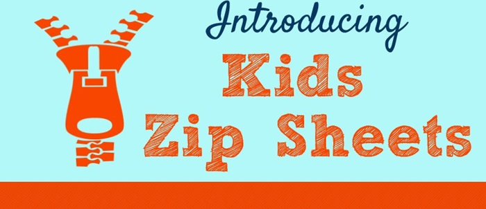 Kids Zip Sheets Infographic