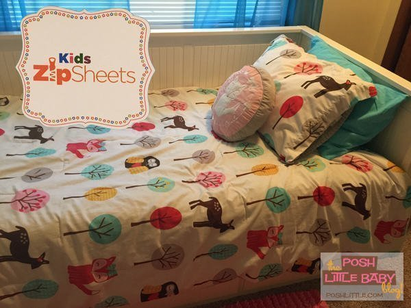 Posh Little Zip Bedding Review of Kids Zip Sheets