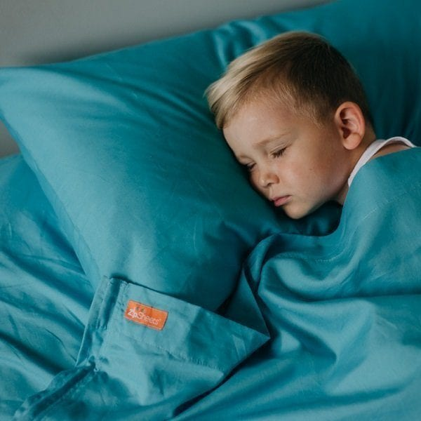 Kids Zip Sheets Aqua