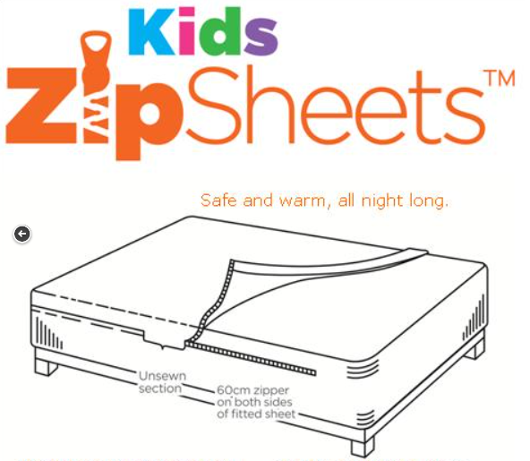 Shoppers Outside The USA Shop Kids Zip Sheets