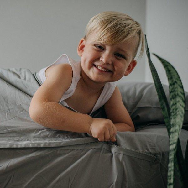 queen size zip sheets 100 cotton grey