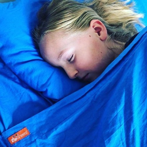 Blue Kids Zip Sheets