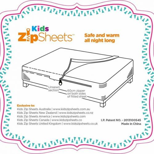 Kids Zip Sheets Label